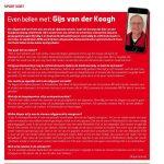 Artikel Even bellen met Gijs van der Koogh in START '84 autosportmagazine februari 2017