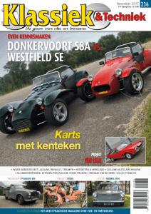 Cover van Klassiek en Techniek editie 236 van november 2017 met een artikel van Ralph Stoove over de Morris 1100 Glider