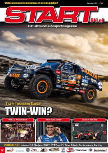 Cover van autosportmagazine Start 84 van feestmaand december 2017 met daarin bijdragen van Ralph Stoové