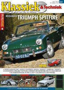 Cover van Klassiek & Techniek april 2018 met een artikel over een Glas 1304 CL door Ralph Stoove