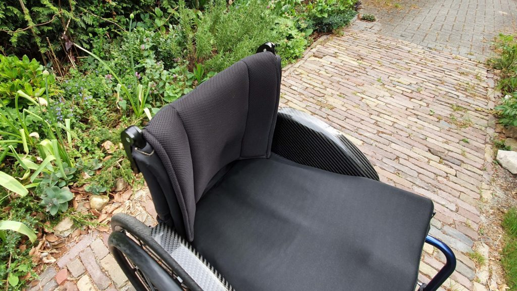 Afbeelding van ademende bekleding voor de rugleuning van mijn TNS Notos rolstoel