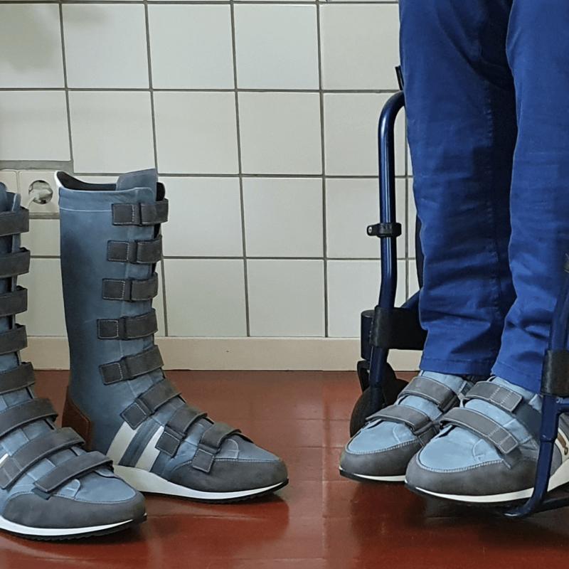 Mooie orthopedische schoenen dankzij creativiteit voor het echie