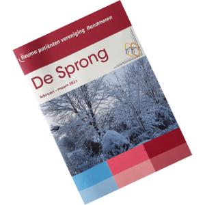 Cover van De Sprong februari en maart 2021 van Reuma Patiënten Vereniging Randmeren (RPV)
