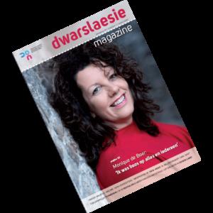cover van dwarslaesie magazine maart 2021 met daarin een artikel over de facebookgroep toegankelijk tuinieren