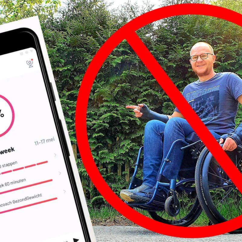 SamenGezond-app sluit rolstoel gebruikers bewust uit